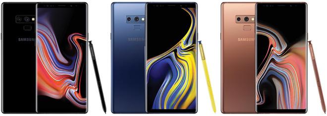 Màu sắc của Galaxy Note 9 được tiết lộ