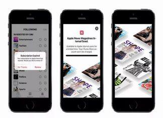 Sự kiện dịch vụ đọc báo mới của Apple